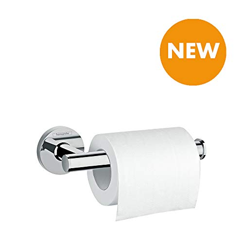 hansgrohe 41726000 Logis Universal Toilet Roll Holder Without Cover Bathroom Accessories, Chrome ()