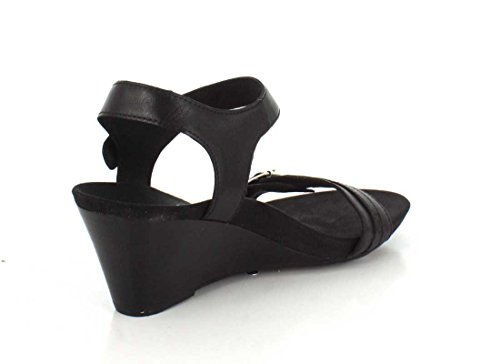 Vionic Womens 382 Laurie Leather Sandals Black