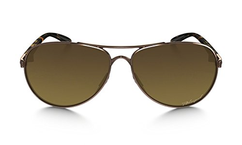 Oakley Women's Womens Feedback Sunglasses (OO4079) Rose Gold/Brown Metal - Polarized - 59mm