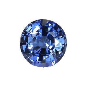 Blue Round Created Sapphire Unset Gemstone 9mm