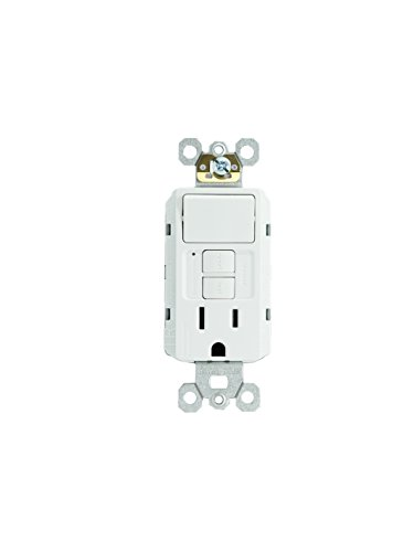 Combo Rocker Single (Legrand - Pass & Seymour radiant 1597SWTTRWCC4 15 Amp Combination Self-Test Tamper-Resistant GFCI Safety Outlet/Single Pole Switch, White, Matching Wall Plate Included)