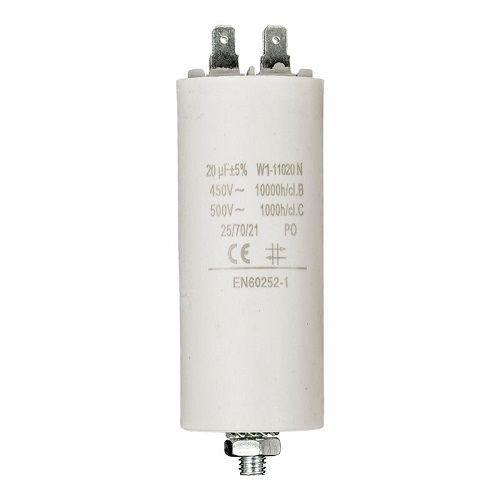 Condensador de arranque para motor electrico 20.0 uF 450 VAC, Cablepelado® Cablepelado®