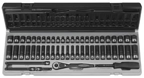 "Grey Pneumatic 89653CRD 1/4"" Drive 53pc Standard/Deep Length Fractional and Metric Duo-Socket Set - 6 P from Grey Pneumatic"