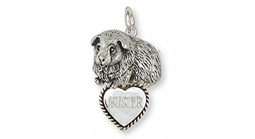 Guinea Pig Jewelry Sterling Silver Guinea Pig Charm Handmade Piggie Jewelry GP8-TC