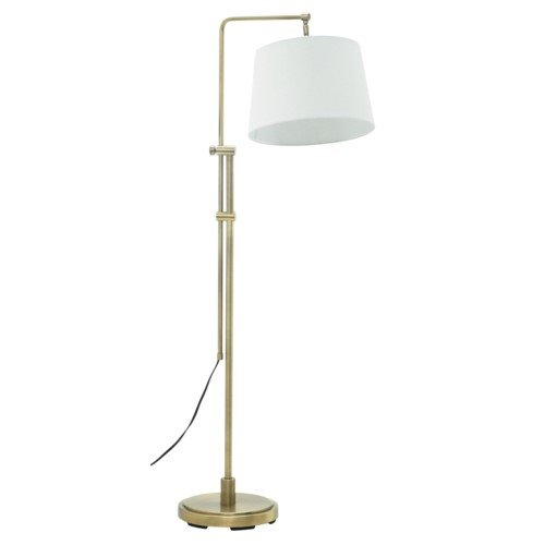 House of Troy CR700-AB Crown Point Bridge Floor Lamp, Antique Brass -