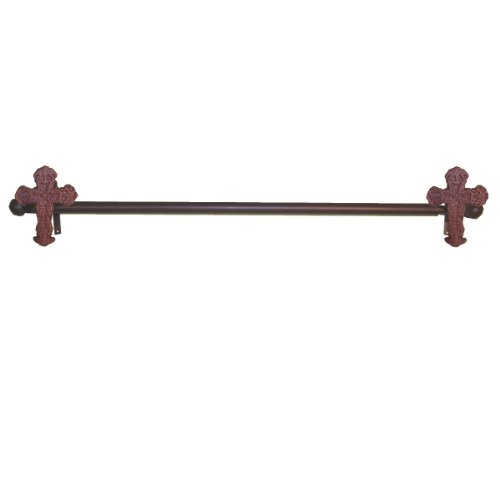 LL Home Metal Cross Curtain Rod and 2 Brackets