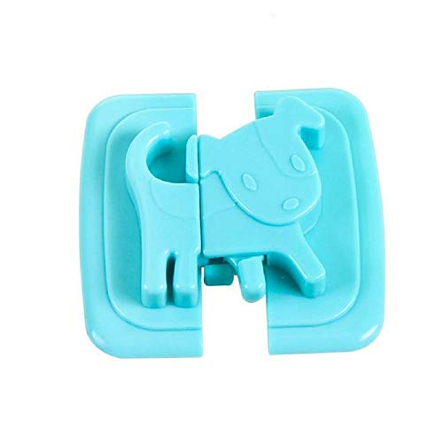2pcs Safety Locks For Refrigerators Kids Baby Safety Cabinet Wardrobe Lock Protection From Children Baby Use security Blocker (Blue)