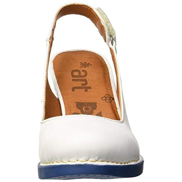 Chiusa Donna Punta Da Art harlem E 1066 Scarpe White-jeans Borse Col Tacco Grass