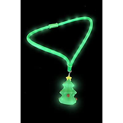 Gloworks Christmas Tree Light Up Necklace `: Toys & Games