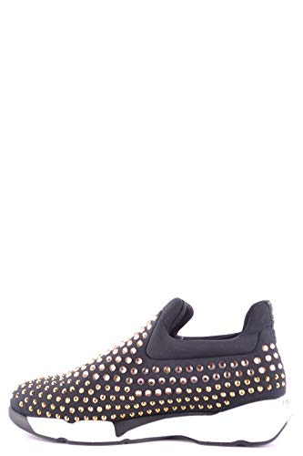 Mujer Pinko on Zapatillas Negro Tela Mcbi32806 Slip Hqvd6wfq