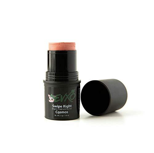 EVXOs Swipe Right Lip and Cheek Tint - Organic Cream Blush Makeup Stick For Mature Skin (Cosmos)