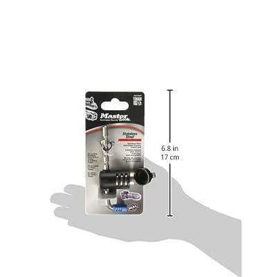 Master Lock Trailer Lock, Stainless Steel Adjustable Coupler Latch Lock, 2847DAT: Automotive