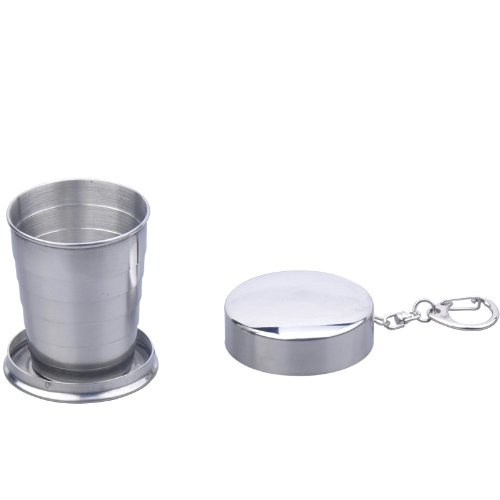 CKB Products Wholesale Telescopic Collapsible Stainless Steel Shot Glass Key Ring in Gift - Glasses Collapsible