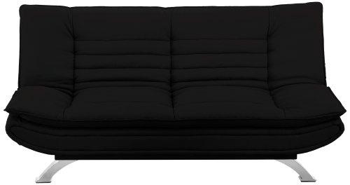 AC-Design-Furniture-47397-Schlafsofa-Jasper-Kunstleder-schwarz-Fe-Metall-verchromt-Liegeflche-ca-196-x-123-cm