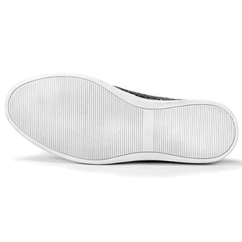Mano Sneakers Round Versatile Confortevole Fatte Stringate da Casual Head Moda Black Uomo Goodyear Scarpe A w7Ht78q