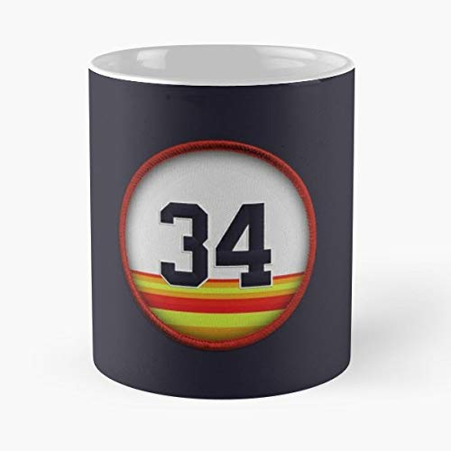 Ryan Express Baseball - 34 Number Ryan Express Pitcher - Coffee Mugs Best Gift Unique Ceramic Novelty Cup