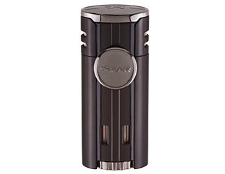 High Performance HP4 Quad Flame Cigar Lighter in an Attractive Gift Box Lifetime Warranty Matte Black