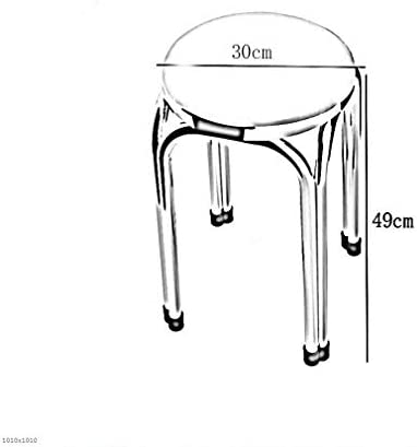 HYL Chaises de Salle à Manger Tabouret 2 Pack- de en Tissu rembourré empilables tabourets, Maison à Manger Tabouret Meubles légers (Color : #6)