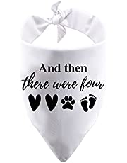 1 Piece Baby Announcement Dog Bandana and Then There were Four Dog Bandana New Baby Gift Pregnancy Gift