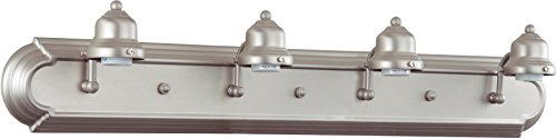 Craftmade Arch - Craftmade 11730BN4 Racetrack 4 Light Arch Arm Vanity Incandescent, Brushed Satin Nickel