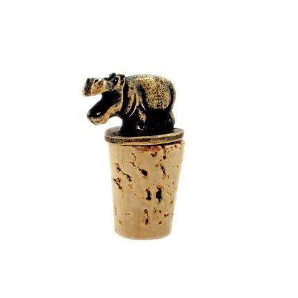 Handmade Fair Trade Brass Wine Bottle Stopper – Hippo