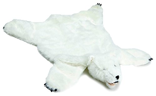 Carstens, Inc Plush White Bear Animal Rug, Small,