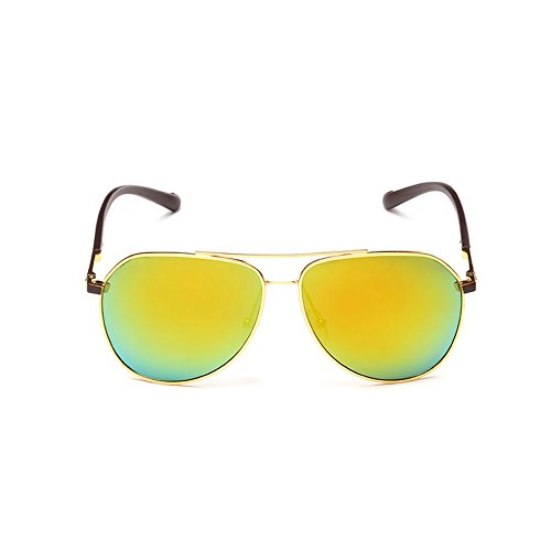 polarizadas Retro para de para Sol Sol Gafas Round Color Gafas D Face Hombres Sol Lentes Brillantes de B con Gafas Hombre de TwXPpqB
