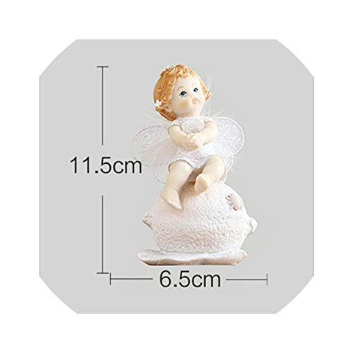 (Resin Baby Angel Figurine Lovely Angel Miniatures Cute Fairy Crafts for Home Decor Gifts for Kids Child,Baby Angel Lemon)