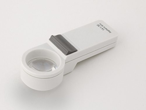 Aspheric Lens Magnifier - 14X Pocket Magnifier with Led Light & Aspheric Lens Ideal for Detailed Inspection Reading, Collectors By Electro Optix