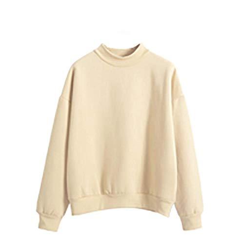 Chemises Rond Sweatshirts Hiver Kaki Col Mode Jeune Pure Fille Casual Longues Sweat Femmes Jumper Pull Tops Couleur Automne Manches wYYqxZSrf