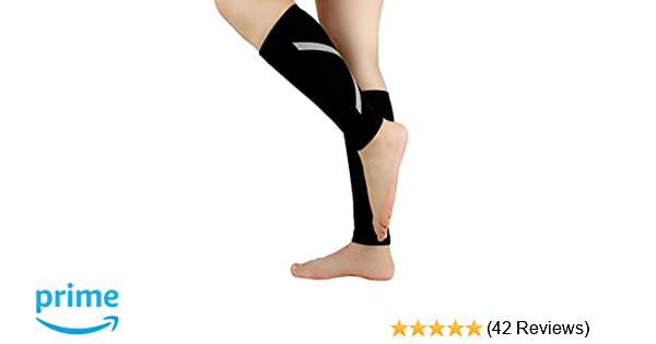 Ideal for Sports, Work, Flight, Pregnancy Graduated Compression, Ergonomic fit for Men and Women Rymora Calf Compression Sleeves