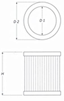 BMC fb603//08/deporte de repuesto Filtro de aire