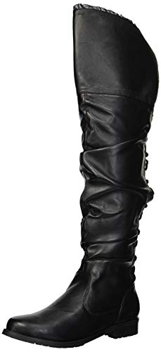 Ellie Shoes Women's 181-TYRA Over The Over The Knee Boot, Black, 8 M US -