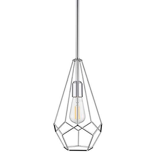 Aliria Pendant Light | Chrome Pendant Lighting for Kitchen Island with LED Bulb ()
