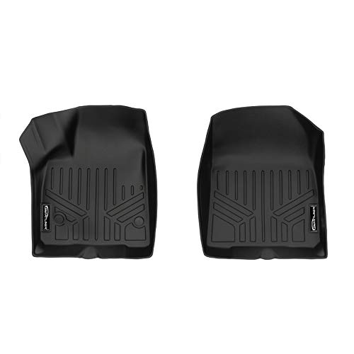 Chevrolet Blazer Floor - SMARTLINER Custom Fit Floor Mats 1st Row Liner Set Black for 2019 Chevrolet Blazer