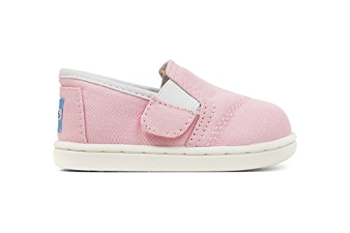 Toms Tiny Pink Canvas Ava Sneakers