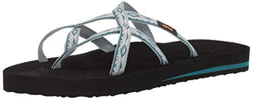 Teva Women's W Olowahu Flip-Flop, Safari Ribbon Gray Mist, 7 Medium US