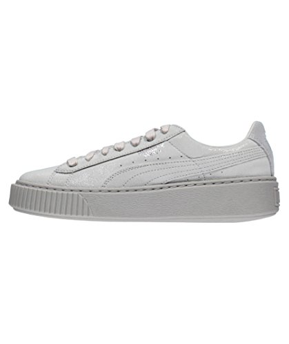 Puma Sneakers Donna, MOD. Basket Platform Reset Wn's, Art. 36331301, Colore Grigio, Tomaia in Pelle.