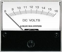 Blue Sea 8003 DC Analog Voltmeter - 2-3/4 Face, 8-16 Volts (Blue Sea 8003 Voltmeter)