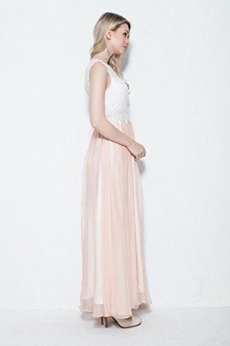 Pink Abendkleid Beauty Ansatz O Spitze Emily Ohne Arm fpq0zwBAq