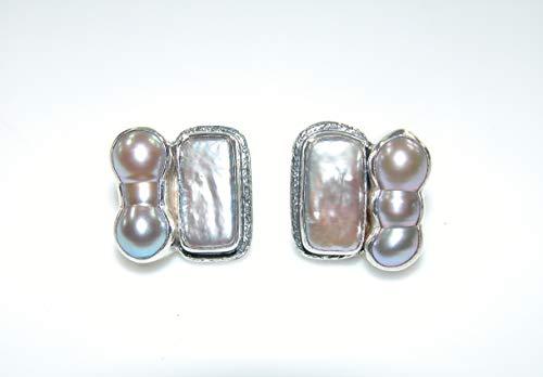 AMY KAHN RUSSELL Freshwater Pearl Sterling Silver Stud Earrings ()