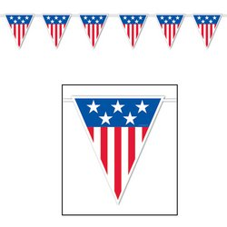 American Spirit Giant Pennant Banner Party Accessory (1 count) (1/Pkg) ()