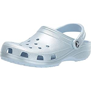 Crocs Men's and Women's Classic Sparkly Clog | Metallic and Glitter Shoes