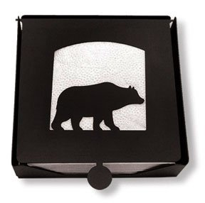- NH-B-14 Bear Napkin Holder by Village Wrought Iron
