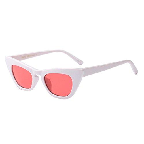 amp;Pink Inclus à étui et Soleil Femmes Lunettes 70 Zhhlinyuan White avec Design Retro UV400 Vintage Lunettes de Designer THAxqU4w