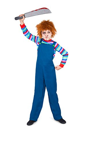 Boy's Evil Puppet Boy Costume - Perfect for Halloween, Costume Party Accessory, Trick or Treating (S)