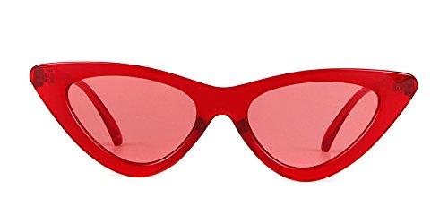 ADEWU sol Rojo niñas de ojo de para Transparente Rojo Cobain estilo Gafas de Marco gato Gafas protección gafas 1 retro de de vintage mujeres Lente sol Kurt ErqC1rnxwv