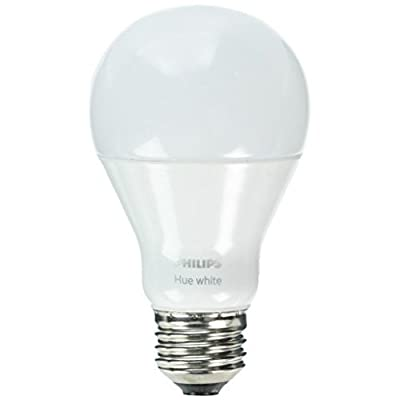 Philips Hue White A19 60W Equivalent Single LED Light Bulb, Compatible with Amazon Alexa, Apple HomeKit, and Google Assistant (California Residents)