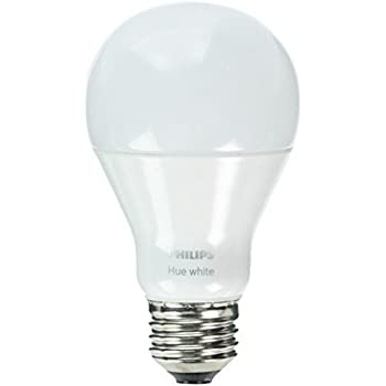 philips hue white a19 single led bulb works with amazon alexa hue hub required. Black Bedroom Furniture Sets. Home Design Ideas