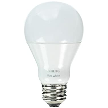 Philips Hue White A19 60W Equivalent Single LED Light Bulb, Works with Alexa, Apple HomeKit and Google Assistant, (All US Residents)